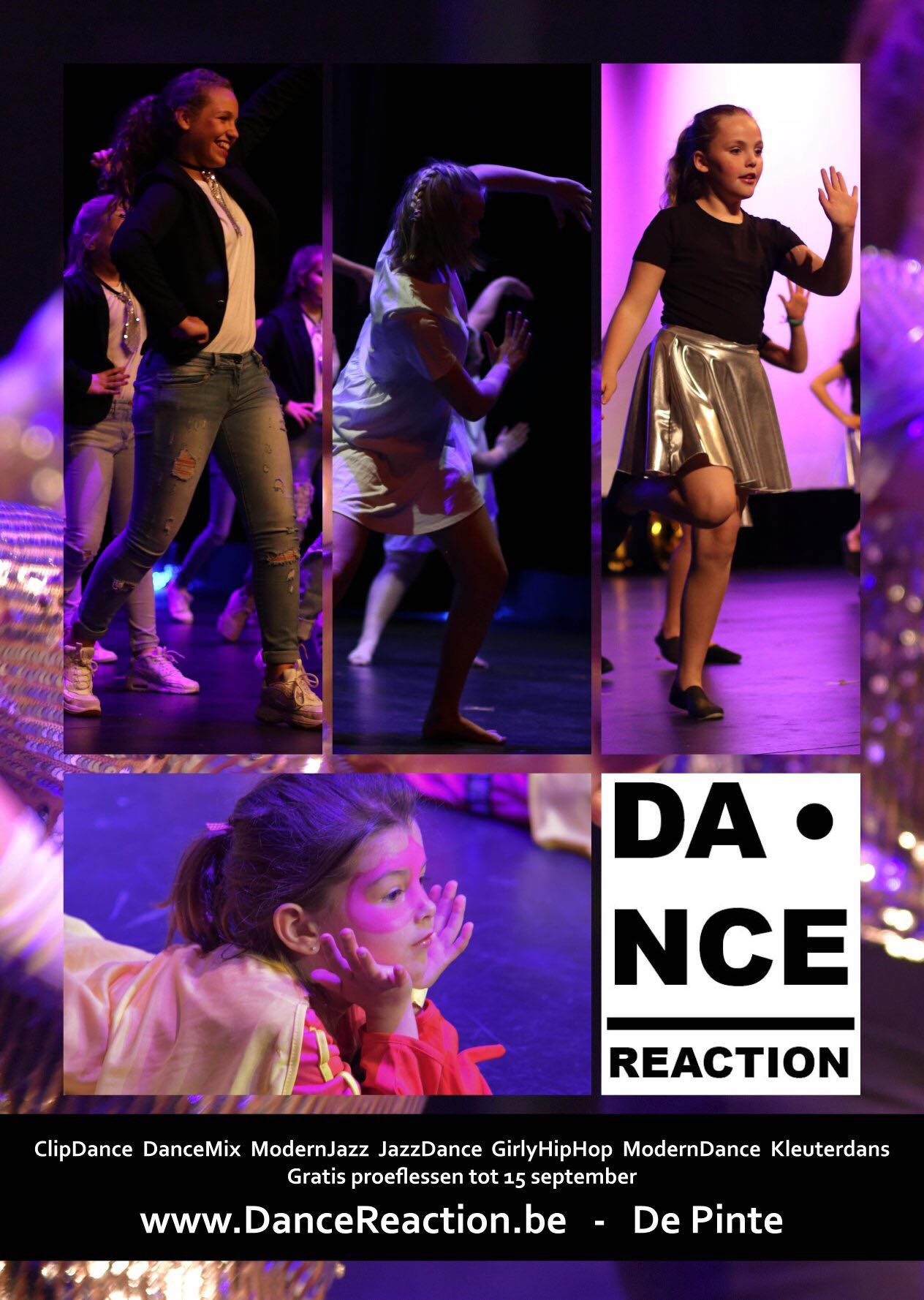 DanceReaction De Pinte - grratis proeflessen - mei - september